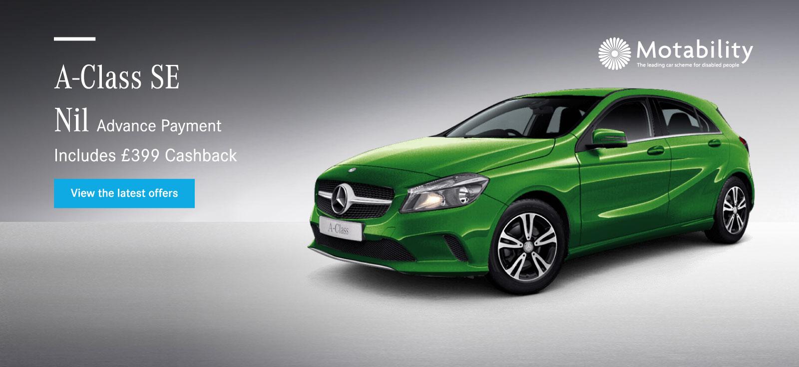 Mercedes benz motability cars motability online for Mercedes benz online