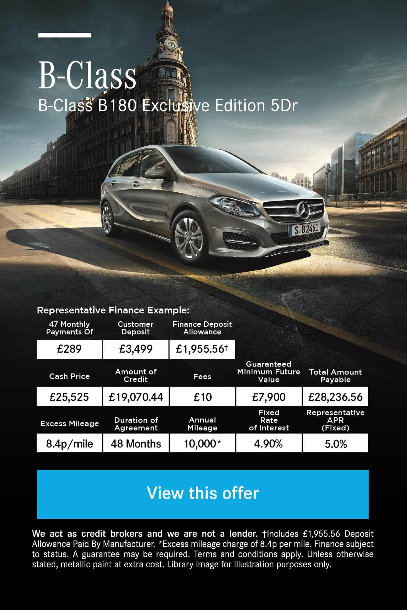 Mercedes-Benz Mercedes-Benz B-Class B180 Exclusive Edition