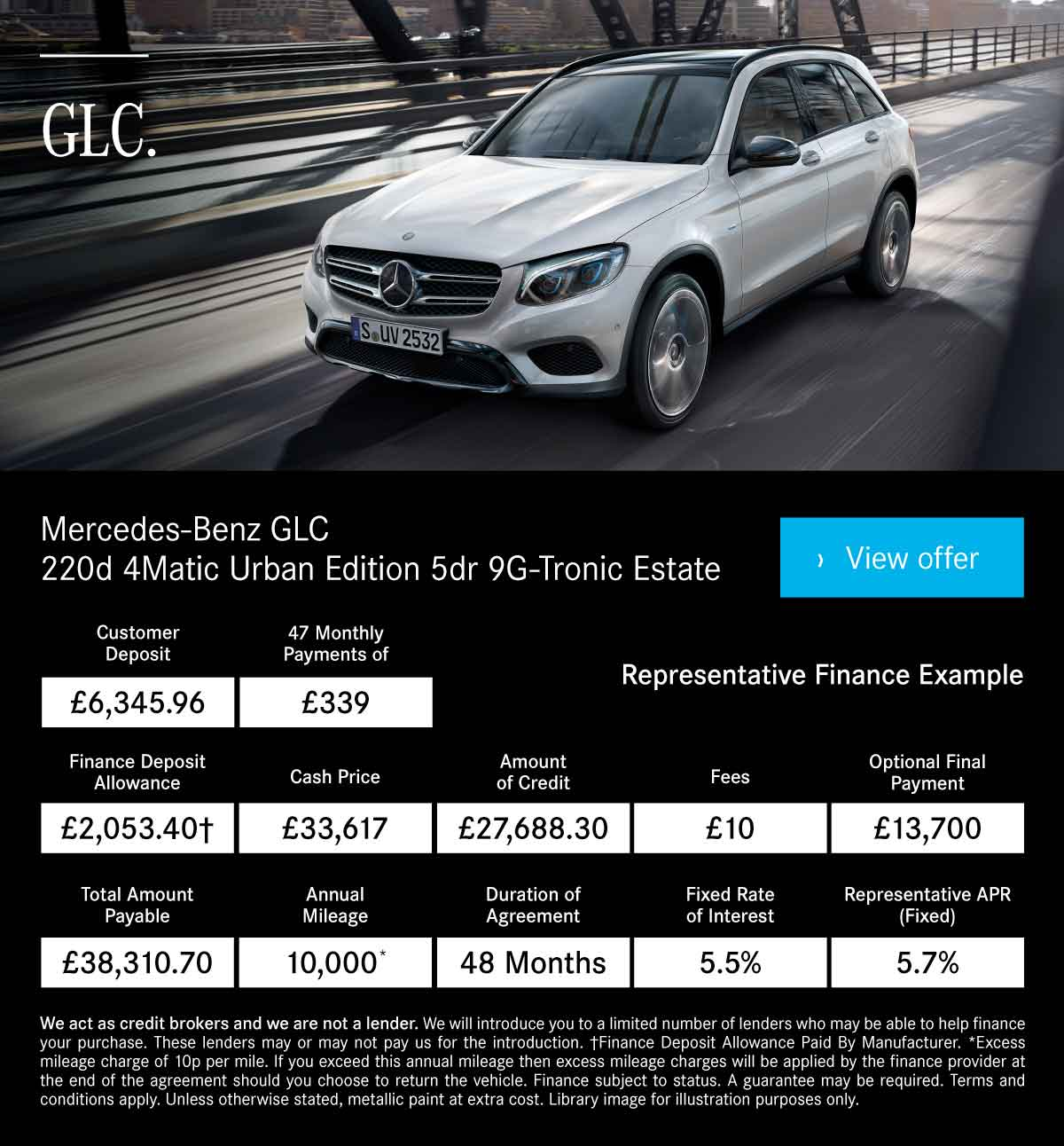 [Mercedes Benz GLC] MB GLC Urban Edition 180419 Banner 1