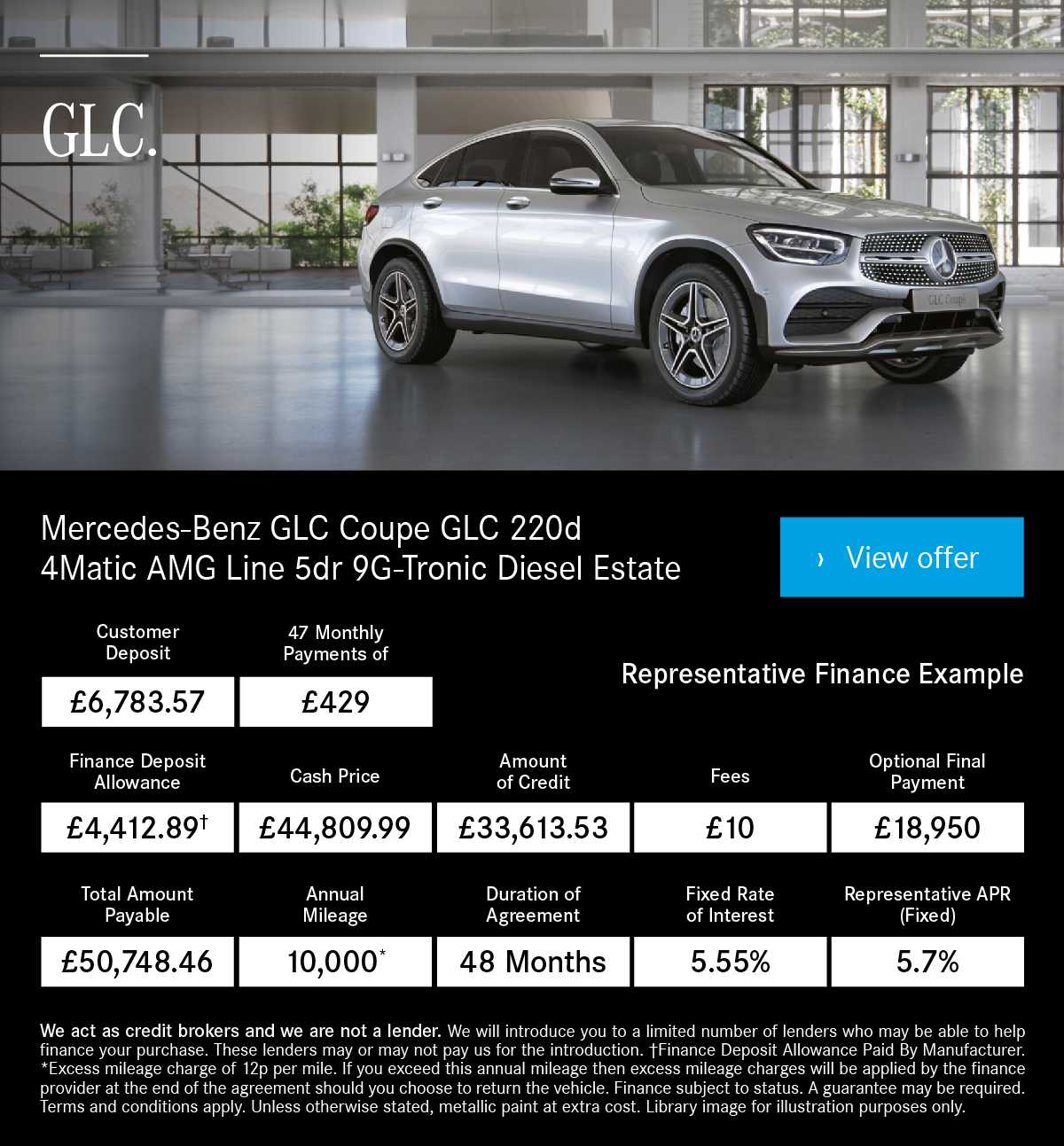 [Mercedes Benz GLC] MB GLC Coupe GLC 220d 4Matic AMG Line 170719 Banner 1