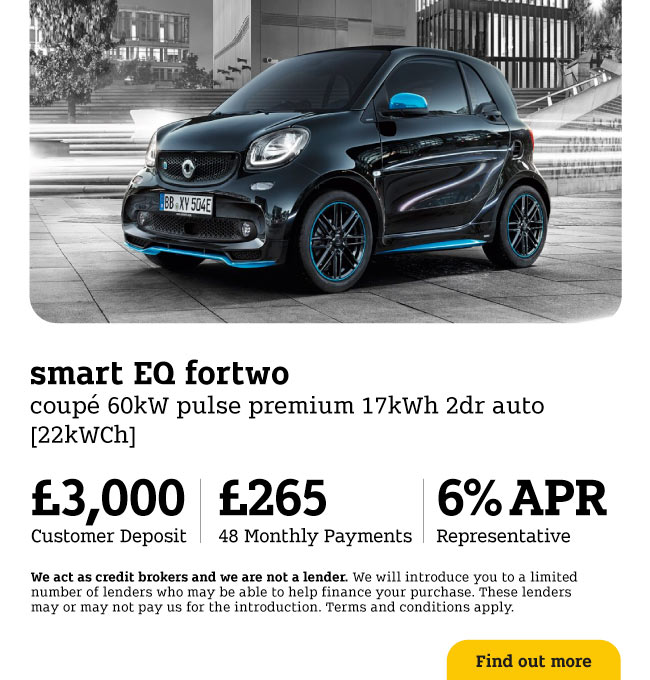 Smart EQ fortwo coupe 60kW EQ Pulse Premium 17kWh 2dr 120620