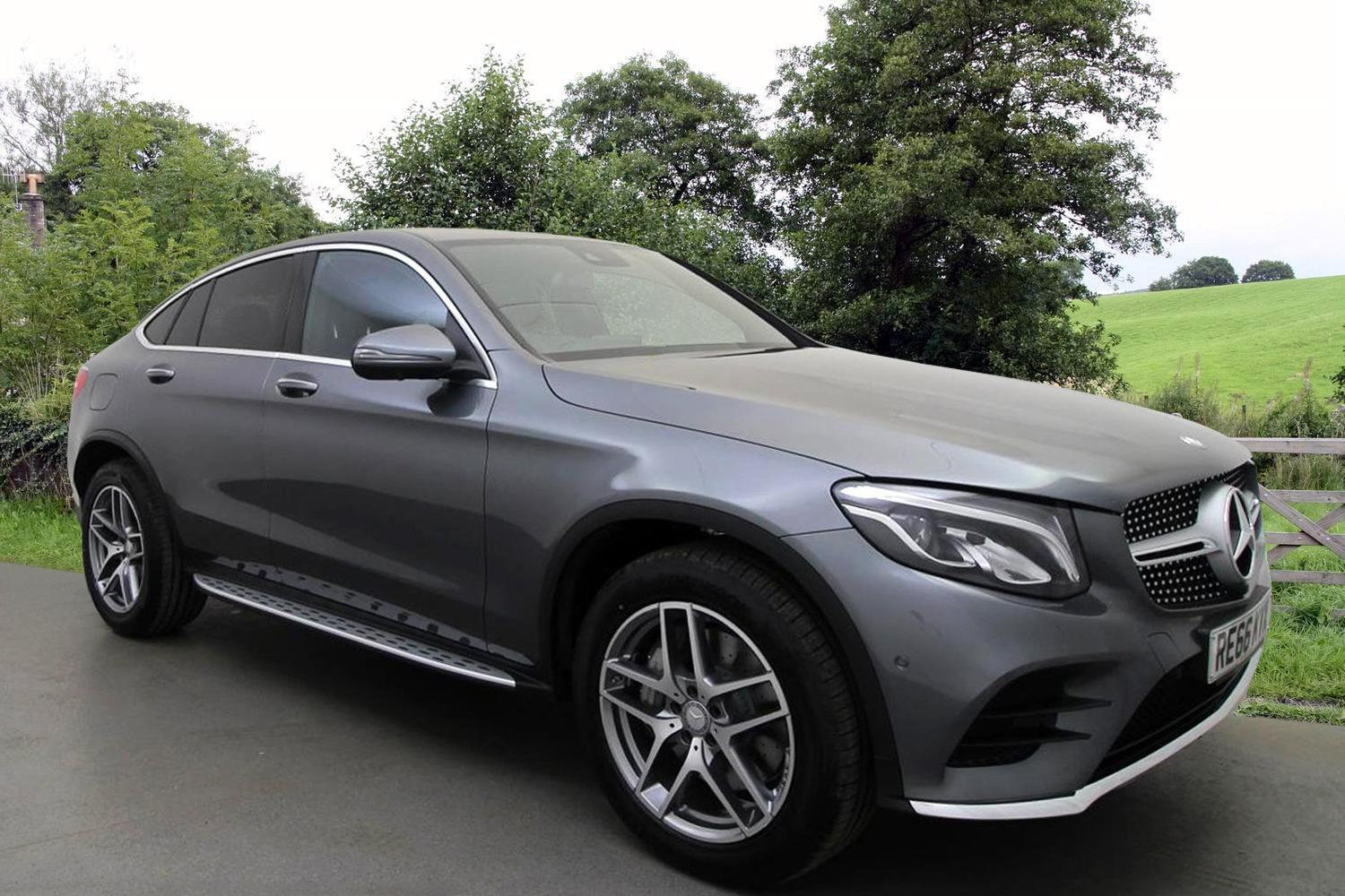 Used mercedes benz glc coupe glc 250d 4matic amg line prem for Used mercedes benz coupe