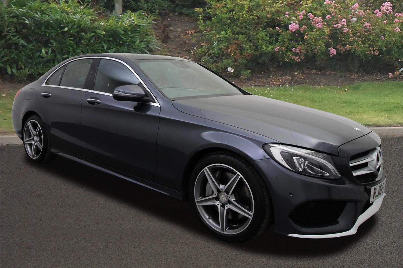 Used mercedes benz c class c300h amg line premium plus 4dr for Mercedes benz c class hybrid